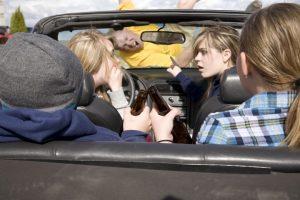 teens drinking hitting man