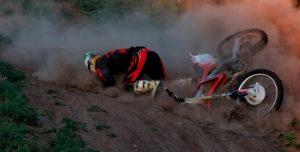 Fall of rider motocross